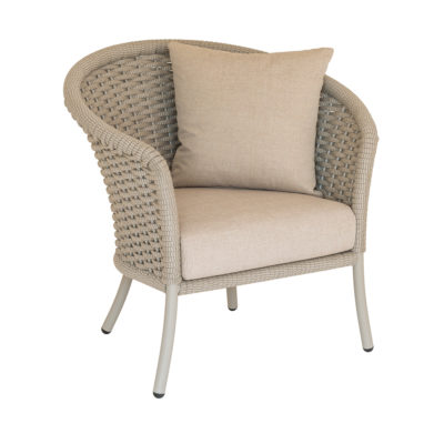 Alexander Rose Cordial Rope Curved Top Lounge Chair Beige