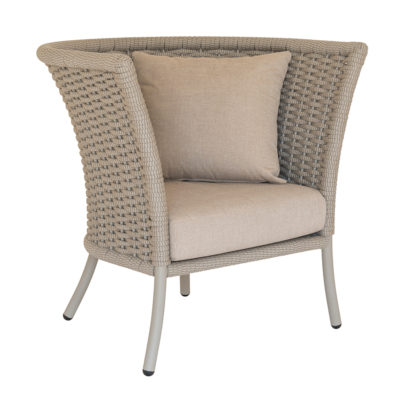 Alexander Rose Cordial Straight Lounge Rope Chair Beige