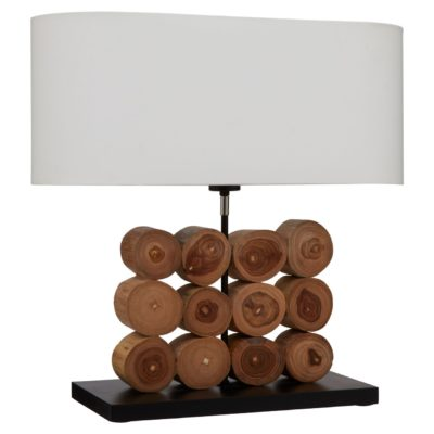 Siena Log Table Lamp