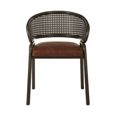 Bergamo Chair Brown Faux Leather