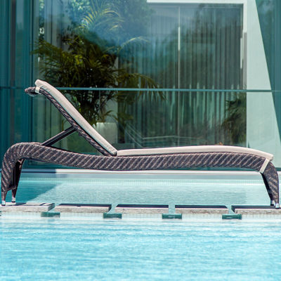Alexander Rose Fiji Adjustable Sunbed with Cushion