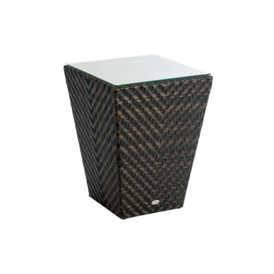 Alexander Rose Maldives Side Table with Glass