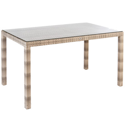 Alexander Rose Fiji Rectangular Table with Glass