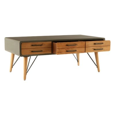 Umbria Coffee Table with Six Drawers
