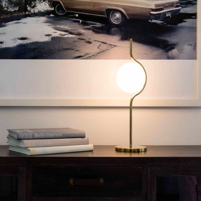 LE VITA Gold table lamp