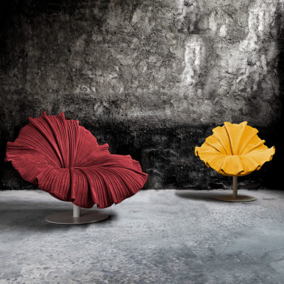 Bloom-Easy-Armchair-Swivel-yellow-red-kenneth-cobonpue