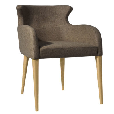 Rubicon-Chair-brown-fabric-latzio