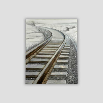 Tracks-Wall Art-dialma-brown