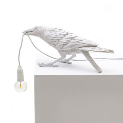 Bird-Lamp-White-Playing-OUTDOOR-Seletti