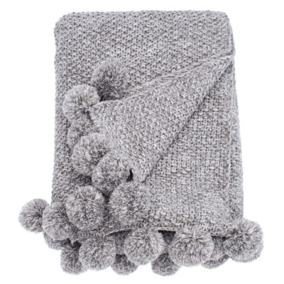 walton-and-co-coy-knit-pompom-throw-grey