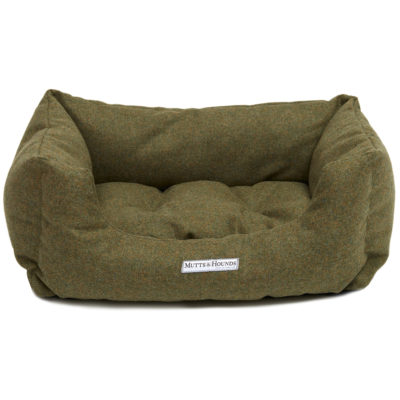 mutts-and-hounds-Boxy-Bed-Forest-Green