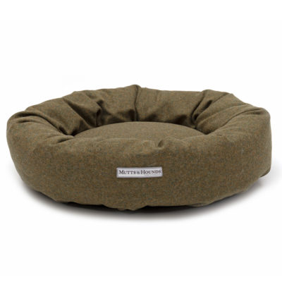 mutts-and-hounds-Donut-Forest-Green-Tweed