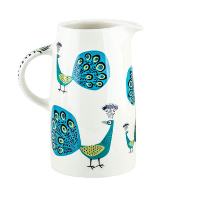 Peacock-Tall-Jug-Hannah-Turner