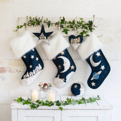 Man-In-The-Moon-Christmas-Stocking-Navy-Blue-jan-constantine
