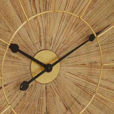 Yaxi-Wall-Clock-With-Natural-Face-Premier-Housewares