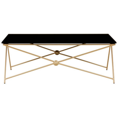 Itasy Gold Finish Coffee Table Latzio