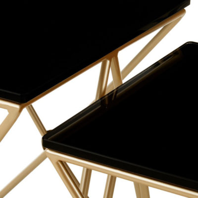 Itasy Gold Finish Side Tables Latzio
