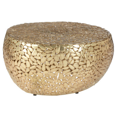Edip Brass Finish Coffee Table Latzio