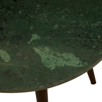 Como Side Table With Green Marble Top Latzio