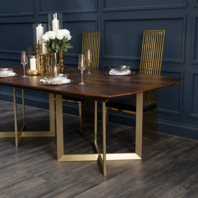 Tana Walnut Wood Dining Table Latzio