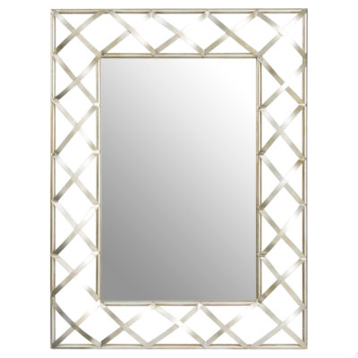 Rara rectangular silver Wall Mirror Latzio