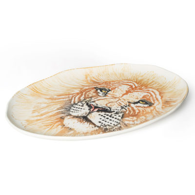 GIANT-OVAL-PLATTER-FLAMINGO-Into-the-Jungle-BlissHome