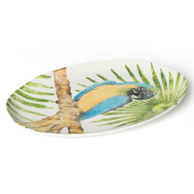 OVAL-PLATTER-PARROT-Into-the-Jungle-BlissHome