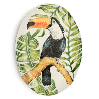 Oval-Platter-Toucan-Into-the-Jungle-BlissHome
