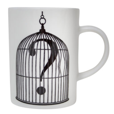QUESTION-MARK-BIRDCAGE-MARVELLOUS-MUG-RORY-DOBNER