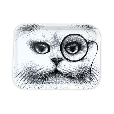 SMALL-WHITE-CAT-MONOCLE-TRAY-rory-dobner