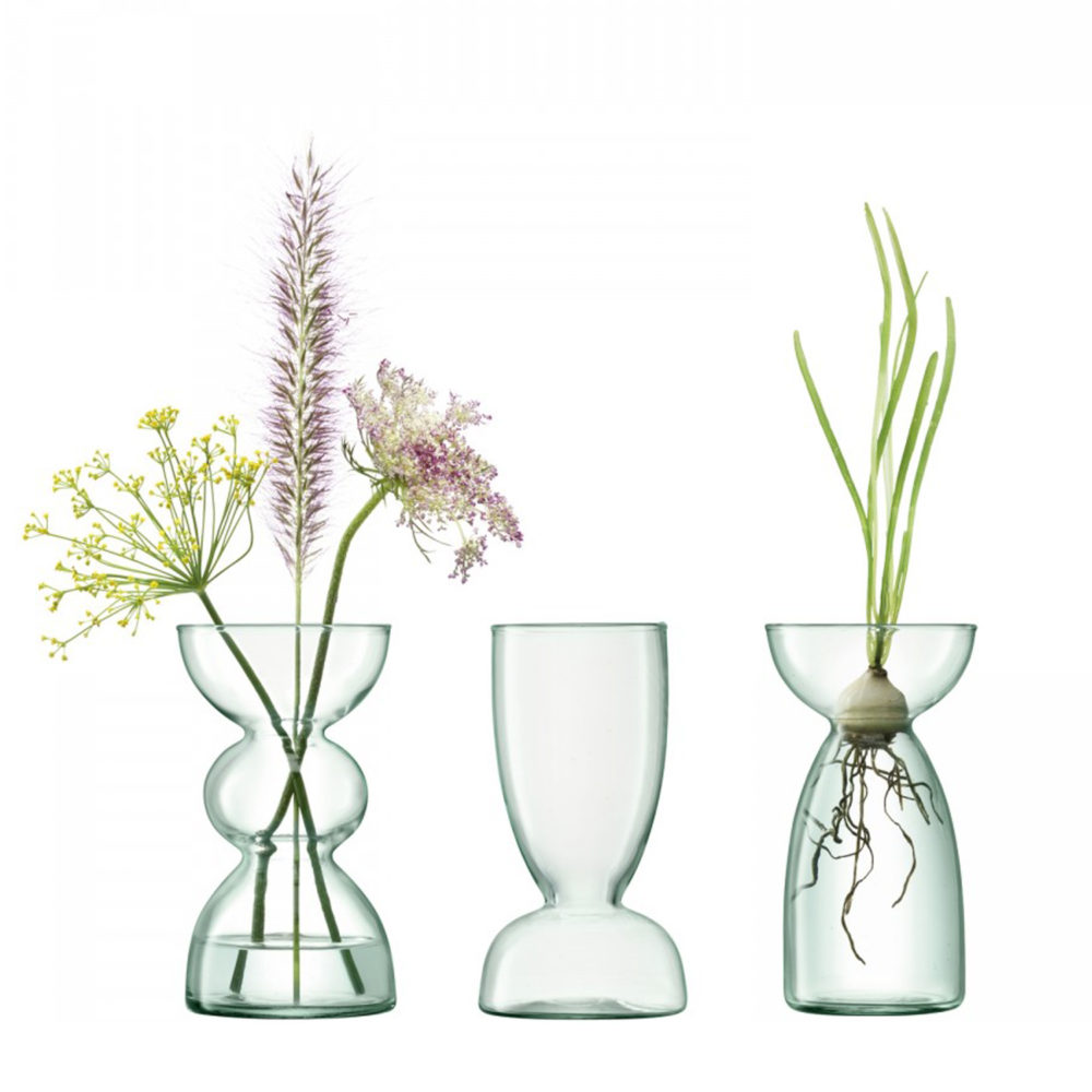 LSA Canpoy Recycled Glass Vase 18cm