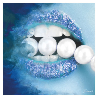 pearls-blue-aluart-mondiart-wall-art