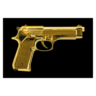 golden-pistol-aluart-mondiart-wall-art