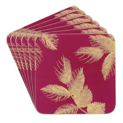 Berry-Etched-Leaves-Coasters-Set/6-sara-miller