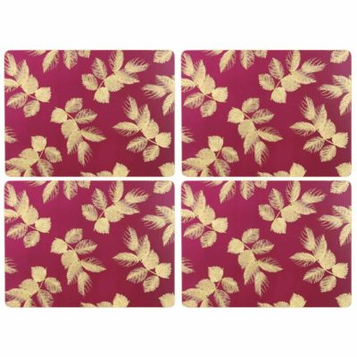 Berry-Etched-Leaves-Placemats-Set/4-sara-miller