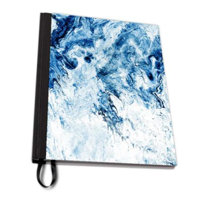 Blue Art Fix notebook fabric artwow