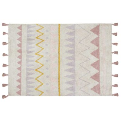washable cotton nude Azteca rug, Lorena Canals