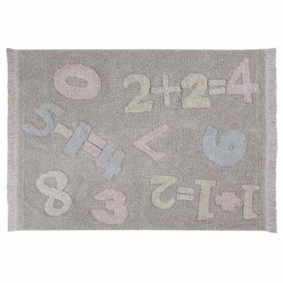 washable cotton numbers rug, Lorena Canals