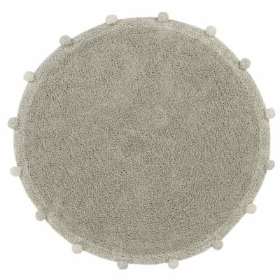 round washable green cotton rug, BUBBLY Olive, Lorena Canals