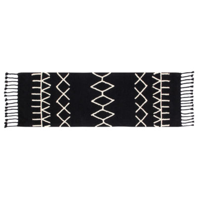 black and white washable cotton Berber rug, Lorena Canals