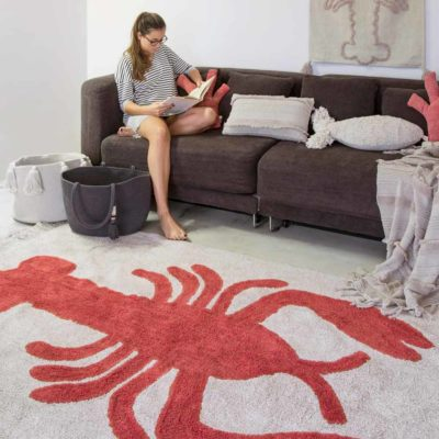 washable cotton lobster rug, Lorena Canals