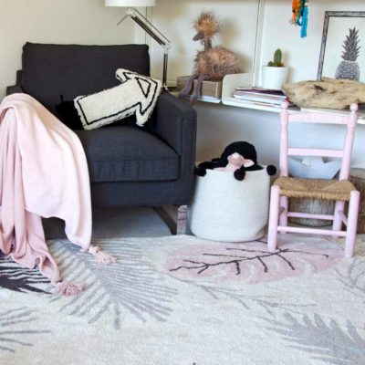 washable cotton Tropical pink rug, Lorena Canals