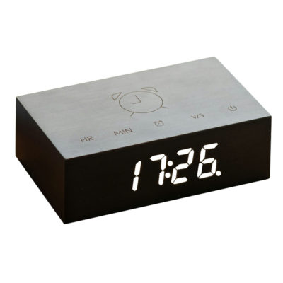 Black Digital Clock Flip Click, gingko