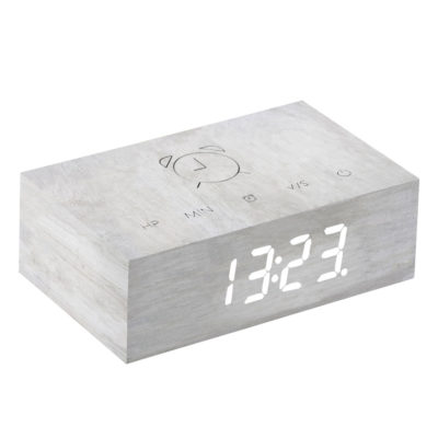 White birch Digital Clock, Flip Click, Gingko