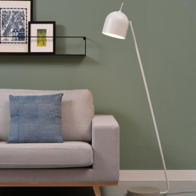 White iron/concrete base Floor lamp, Madrid, It's About RoMI