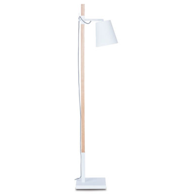 White iron/ash wood floor lamp, Sydney, It's About RoMI