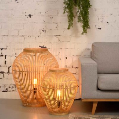 bamboo small floor lamp, Good and Mojo