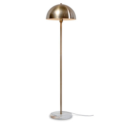 gold iron, white marble floor lamp, Toulouse, it's about Romi