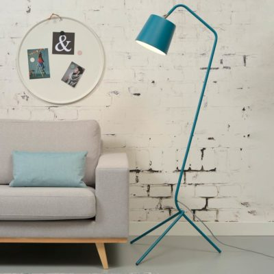 blue iron floor lamp, Barcelona, it's about Romi