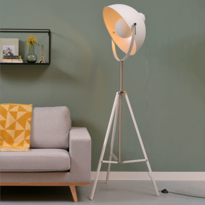 White iron floor lamp, Hollywood, it's About RoMI